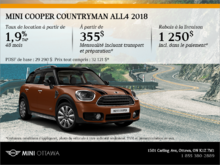 La MINI Cooper Countryman ALL4 2018