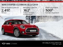 La MINI Cooper Clubman ALL4 2019