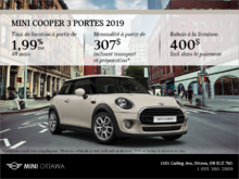 La MINI Cooper 3 portes 2019