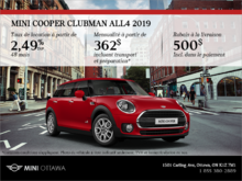La MINI Cooper Clubman ALL4 2019