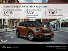 La MINI Cooper Countryman ALL4 2019