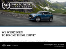 The Mini Born To Drive Sales Event