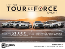 Infiniti Tour de force Event