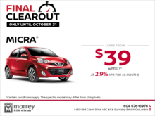 Get the 2018 Nissan Micra!
