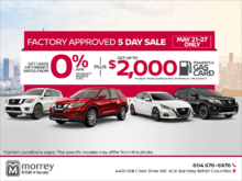 Factory Approved 5-Day Sale!