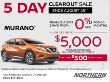 Get the 2018 Nissan Murano today!