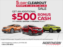 Nissan's 5 Day Clearout Sale!