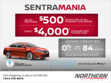 It's Sentra Mania at Nissan!