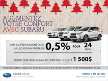 La vente mensuelle chez Subaru