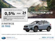 Obtenez la Subaru Crosstrek 2018 dès aujourd'hui!