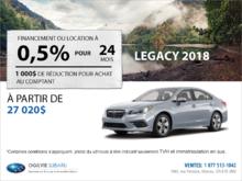 Obtenez la Subaru Legacy 2018 dès aujourd'hui!