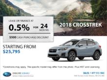 Get the 2018 Subaru Crosstrek Today!