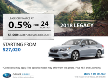Get the 2018 Subaru Legacy Today!