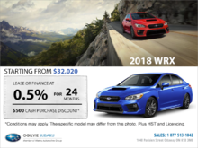 Get the 2018 Subaru WRX Today!