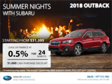 Get the 2018 Subaru Outback Today!