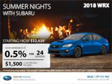 Get the 2018 Subaru WRX Today!