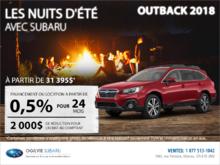 Obtenez la Subaru Outback 2018 dès aujourd'hui!