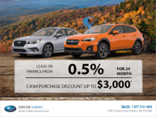 Subaru's Monthly Sales Event!