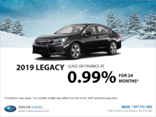 Get the 2019 Subaru Legacy Today!