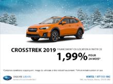 Obtenez la Subaru Crosstrek 2019 dès aujourd'hui!