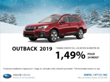 Obtenez la Subaru Outback 2019 dès aujourd'hui!
