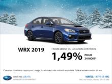 Obtenez la Subaru WRX 2019 dès aujourd'hui!