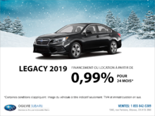 Obtenez la Subaru Legacy 2019 dès aujourd'hui!