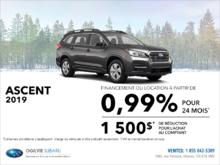 Louez la Subaru Ascent 2019 dès aujourd'hui!