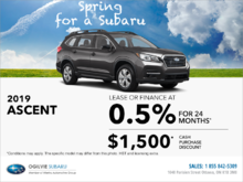Get the 2019 Subaru Ascent Today!