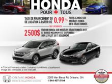 Procurez-vous une nouvelle Honda 2018!