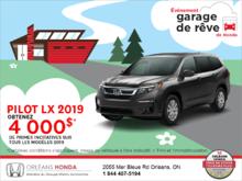 Obtenez le Honda Pilot 2019!