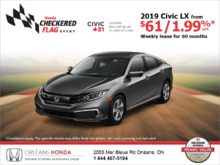 Lease the 2019 Honda Civic!