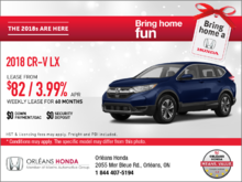 Save on a 2018 Honda CR-V Today!