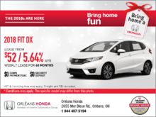 Save on a 2018 Honda Fit Today!