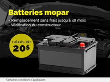 Batteries Mopar en rabais