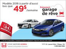 Garage de rêve Honda!