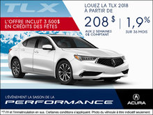 Conduisez l'Acura TLX 2018 aujourd'hui!