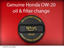 Genuine Honda Oil and Filter Change