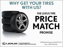 Lexus Tire Price Match Promise!