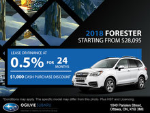 Get the 2018 Subaru Forester