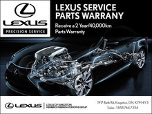 Lexus Parts Warranty!