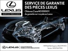 Service de garantie des pièces Lexus!