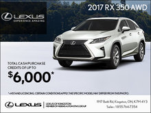 Get the 2017 RX 350 today!