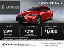 Get the 2018 Lexus IS Today!