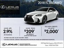 Get the 2018 Lexus IS Today!