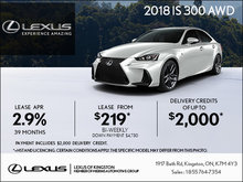 Get the 2018 Lexus IS 300 Today!