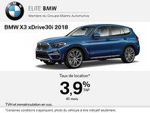 Conduisez le BMW X3 xDrive30i 2018 aujourd'hui!