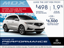 Drive Home the 2017 Acura MDX Today!