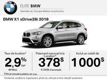 Obtenez le BMW X1 xDrive28i 2018 aujourd'hui!