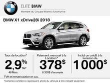 Conduisez le BMW X1 xDrive28i 2018 aujourd'hui!